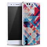 Colorful Plaid Soft Protective Back Cover Ultra Thin Huawei Case for Huawei Ascend P9