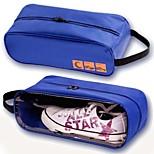 Portable Waterproof Shoes Bag Travel Storage Visual Breathable Tote Bag Random Color