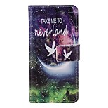 Starry Sky Painted PU Phone Case for iphone5SE