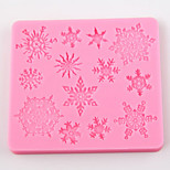 Snowflakes Shape Flip Sugar Sugar Cake Mold Decoration Mold Tool Diy Baking Tools