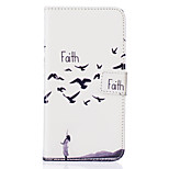 Faith Pattern Embossed PU Leather Case for Sony Xperia Z5/ Xperia Z5 Compact