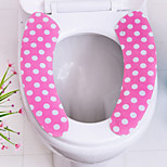 2Pcs Washable Bathroom Warm Self-adhesive Sticky Toilet Mat Seat Cover Pad