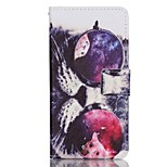 Glasses Cat Pattern Magnetic Flip Wallet PU Leather Phone Case for Huawei P9
