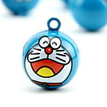 Doraemon Cartoon Pure Copper Pet Pendant Bell(2 PCS 2cm)