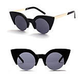 Women's 100% UV400 Cat Eye Vintage Mirrored Sunglasses