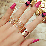 Fashion Hollow Out Cross Alloy 3 Suits Midi  Rings