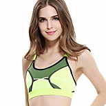 No Rims Sports Bra Straps Cross The United States Back Hit Color Shockproof Yoga Underwear