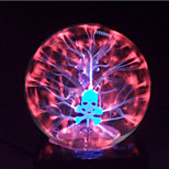 Magic Glass Plasma Ball Sphere Skull 4-Inch Electronic Magic Ball Creative Crafts Ornaments Birthday Gift for Kids