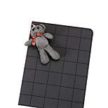Grid Pattern with Cute Rabbit PU Leather with Stand Smart Case for iPad Mini 1/2/3(Assorted Corlors)