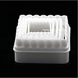 5pcs Square Fondant Sugar Paste Cookie Clay Cutter Cake Mold Mould Tool