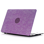 caja de cuerpo completo de la cubierta dura recubierta de goma suave al tacto de plástico de mezclilla para el aire del macbook 11