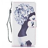 Girl Pattern PU Leather Full Body Case with Stand for LG LS770
