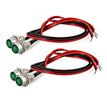 New 4 Motorcycle Green Led Turn Signal Indicator Running Light Lamp Dc 12V