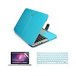 3 in 1 PU Leather Laptop Case Bag with Screen Protector and Keyboard Cover for Macbook 11