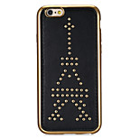 Rivet Leather Series Tower Pattern Gold Plating Golden Round-Dots Soft TPU Case for iPhone6/6S