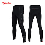 TASDAN Cycling Clothing Men's Cycling Winter Tights/Pants Brushed Fabric With Gel Pad Chamois