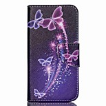 Cross Textured Leather Protective Cover for Acer Liquid Z530 Z530S - Vivid Butterflies