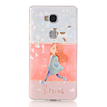 Girl Pattern Soft TPU Back Cover Case for Huawei Honor 5X