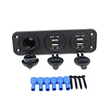 12-24V Universal Automobile Motorcycle Console Dual USB+ Dual USB Car Charger