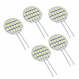 G4 1W 24 SMD 3528 White Circular LED Lamp(DC 12 V,5pcs)