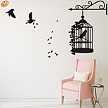AYA™ DIY Wall Stickers Wall Decals, Birdcage PVC Wall Stickers