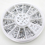 Fashion DIY Transparent Diamante Rhinestone Crystal Nail Art Decal Tips Glitters Stickers