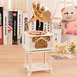 Phonograph Shape For Elise Music Box Plastic White / Gold