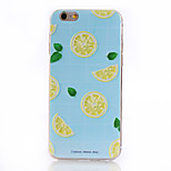 Juicy Lemon Halves Pattern Soft TPU Back Cover Case for iPhone 6/6S