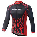 Jersey-Ciclismo / Motocicletta-Per uomo-Maniche lunghe-Traspirante / Resistenteai raggi UV / Asciugatura rapida / wicking / Limita la