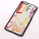 Life Metal Sheet PC Bottom IML With Back Case For Iphone6 Plus/6s Plus