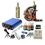 tatuagem kit jh575 1 máquina com apertos de alimentação 3x10 ml de tinta