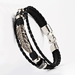 laisse la forme des feuilles pu bracelet pour hommes