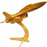 F16 Aircraft Wood 3D Puzzles Diy Toys