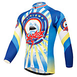 XINTOWN Light Blue Shark Men's Pro Team Style Long Sleeve Cycling Jersey