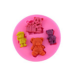 Cake Decorating Sugar Art mold - Bear-shaped