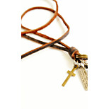 Vilam® Vintage Bullet Leather Necklace Copper Necklace Pendant Necklaces Sports 1pc