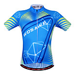WOSAWE Men's Cycling Jersey Bike Shirts Cycling Clothing Bicycle MTB Sportswear Summer Fitness Tops