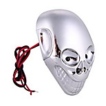 Chrome Skull Motorcycle Motorbike Car Flashing Led Decorative Ligh