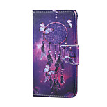 Cross Textured Leather Protective Stand Phone Case with Card Slot for Huawei Honor 5X - Dream Catcher