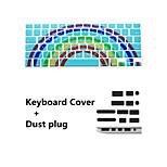 Newest Keyboard Film and Anti-dust Plugs Universal for MacBook  Pro 13/