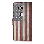 US Flag Magnetic PU Leather wallet Flip Stand Case cover for Huawei Honor 5X