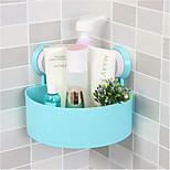 Bathroom Corner Triangle Shelf With Suction Rack Shower Wall Organizer Storage