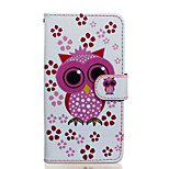 Owl Pattern PU Leather Full Body Case with Stand for Wiko Rainbow Jam 4G