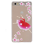 Dancing Girl Pattern Ultrathin TPU Soft Back Cover Case for Huawei P8 Lite