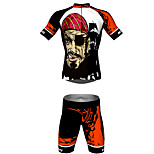 MYKING Men's Cycling Bike Short Sleeve Clothing Set Bicycle Wear Suit Jersey and Shorts pirate