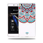 Name Family Flower Pattern Soft TPU Back Cover Case for Huawei Ascend P8