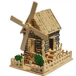 3D Puzzles Quadruple Diy Wooden Assembled Makeup Ship Puzzle  Wooden Windmill Cottage Three-Dimensional Simulation Model