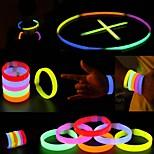 Glowstick Party Activities Luminous Ornaments Bracelet Red Yellow Multicolor 6PCS
