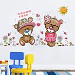 Cute Bear couple Bear Wall Stickers