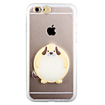 Glow in the Dark Cut Dog PC Back Case with Strap and Stand for iphone6/6s